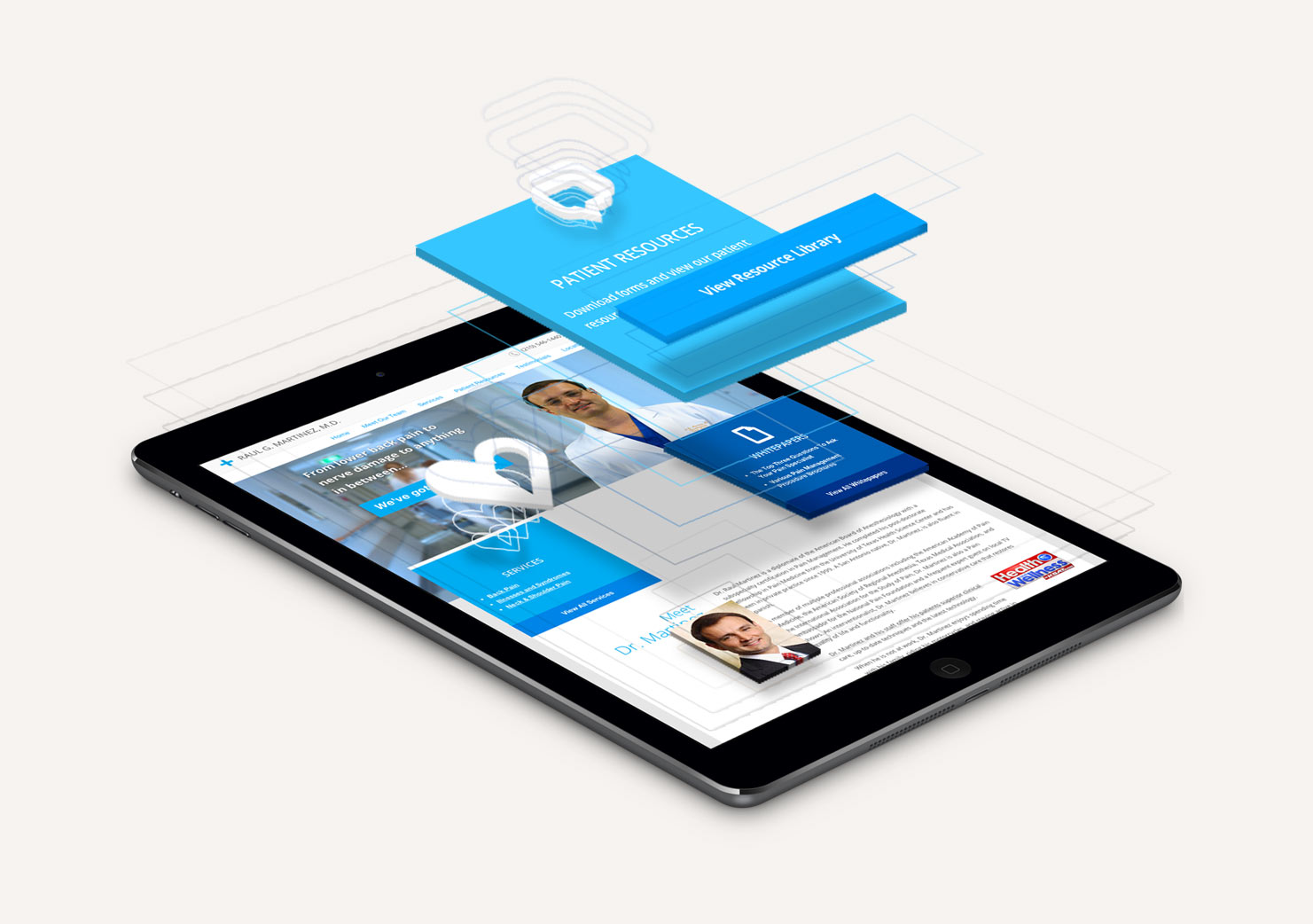 We Create Mobile Friendly Websites Graphic